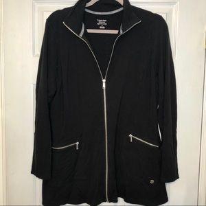 Calvin Klein Zip Up Black Long Sweater